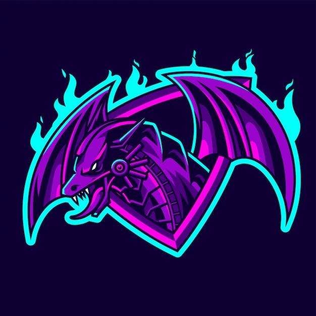 Dragon e-sport талисман Premium векторы