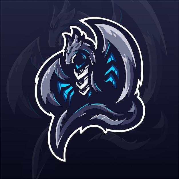 ドラゴンeスポーツチームのロゴのテンプレート Premiumベクター