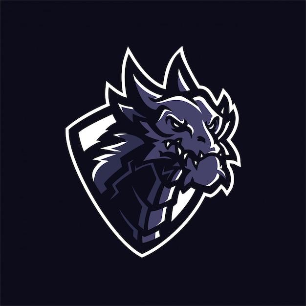 Pantera Logo Dragon esport gaming m...