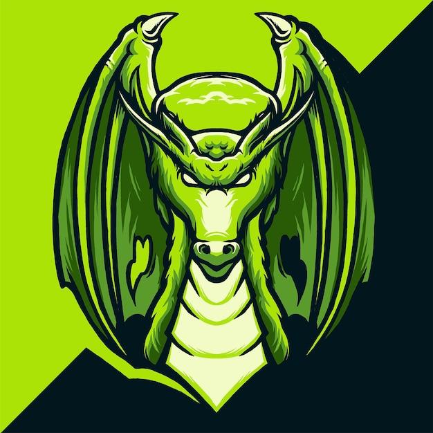 ドラゴンeスポーツのロゴイラスト Premiumベクター