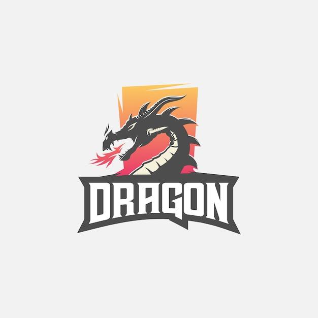 ドラゴンeスポーツのロゴ Premiumベクター