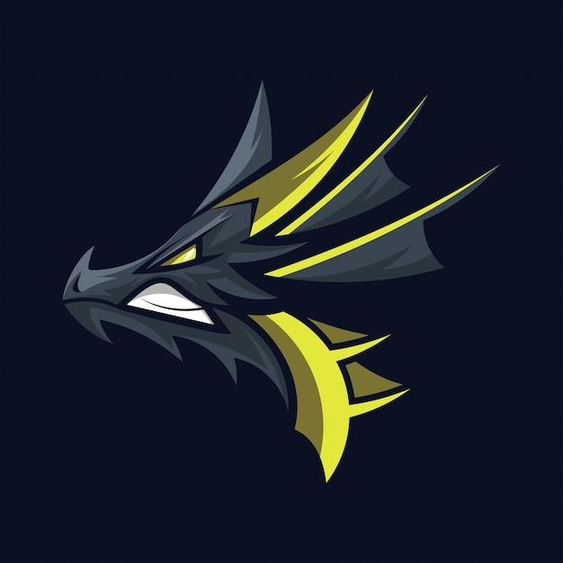 Dragon head logo vector Premium Vector