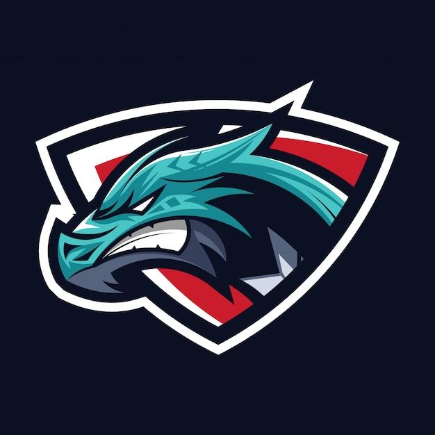 Dragon head mascot Premium Vector