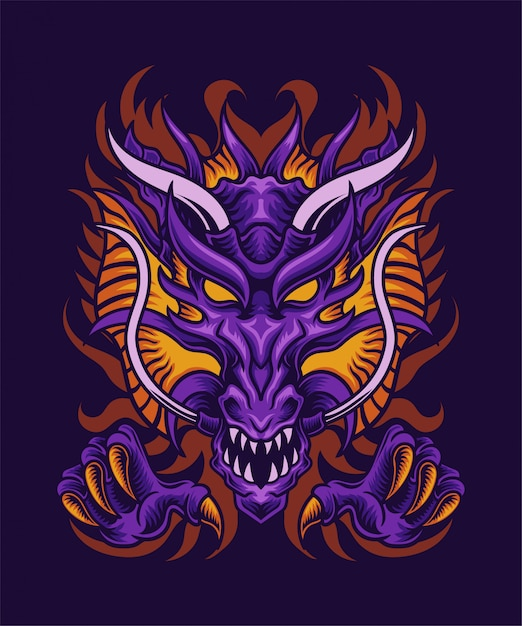 Dragon illustration Premium Vector