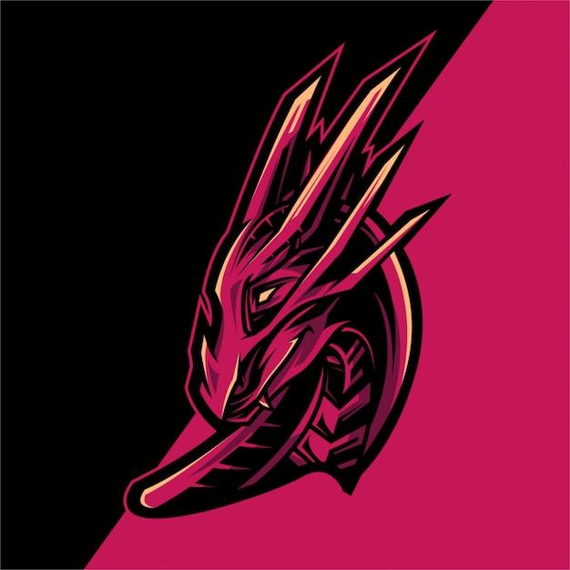 ドラゴンロゴeスポーツチーム Premiumベクター