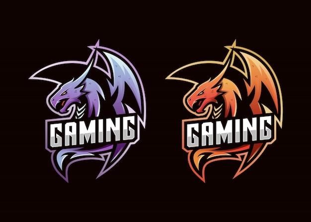 Dragon logo gaming e-sport Premium Vector