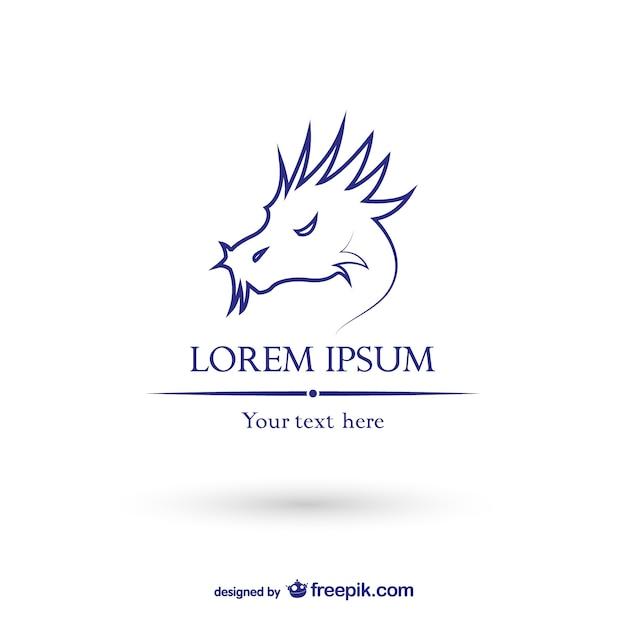 Dragon logo template vector Free Vector