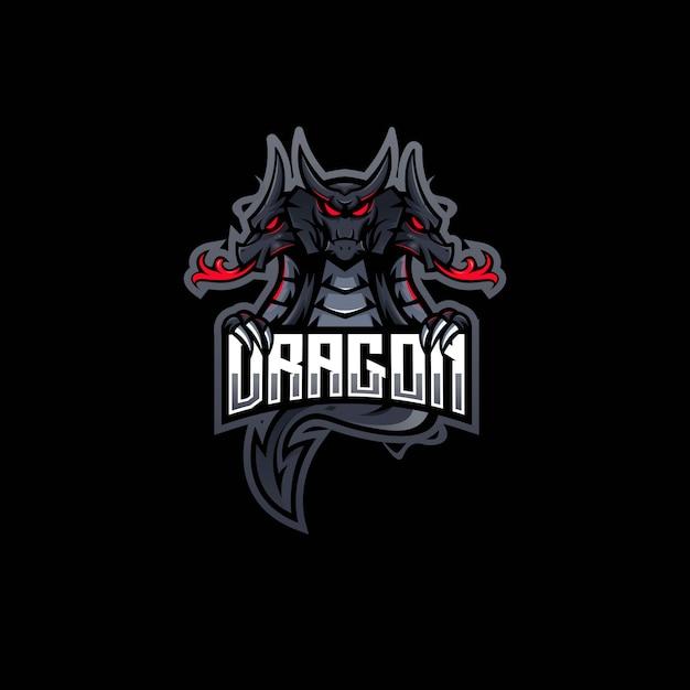 ドラゴンマスコットロゴデザインeスポーツチーム Premiumベクター