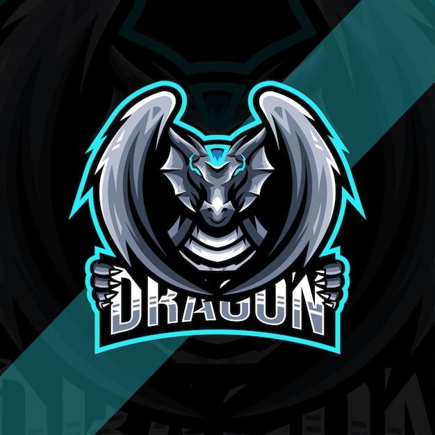 Шаблон логотипа талисмана дракона Premium векторы