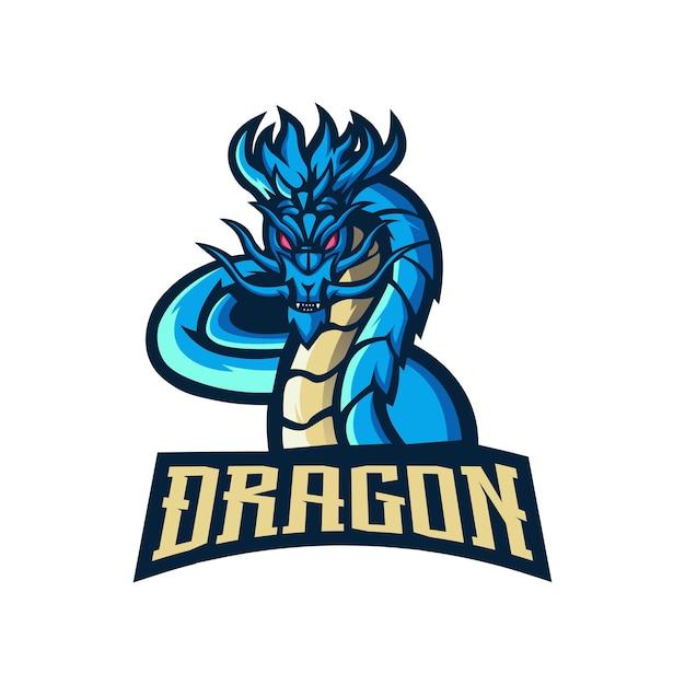 ドラゴンのマスコットのロゴ Premiumベクター