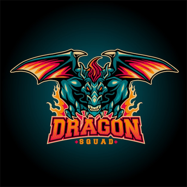 Dragon squad Premium Vector