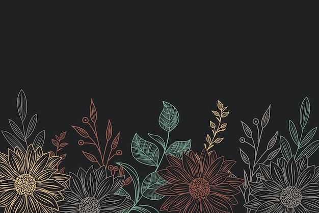 Vector Stock - Chalkboard floral and leaf elements. Clipart Illustration  gg80674519 - GoGraph