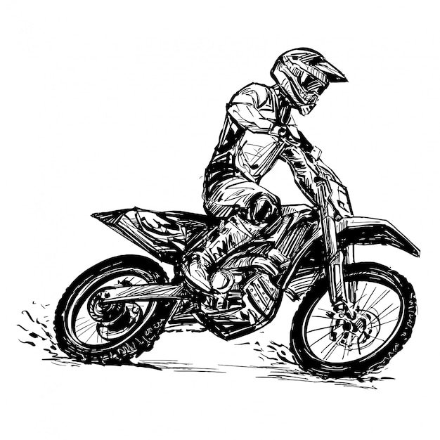 Drawing Of The Motorcycle Competition