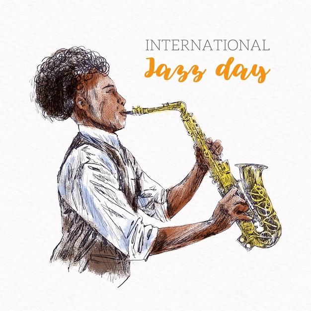 Розыгрыш международного джазового дня Бесплатные векторы