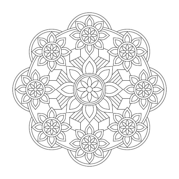 Premium Vector Drawing Ornamental Mandala Coloring Book Page Background Wallpaper