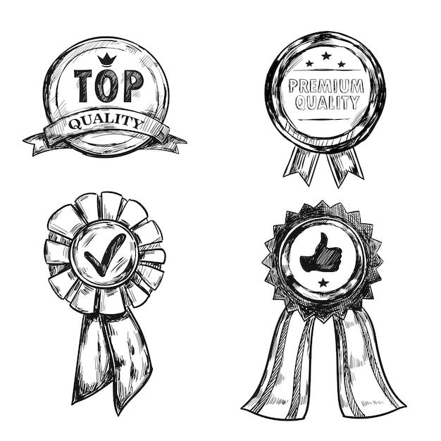 Набор эмблем для медалей
