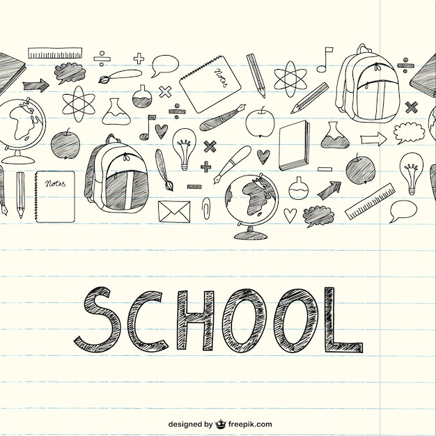 School Thing Drawing Drawing School Items on a