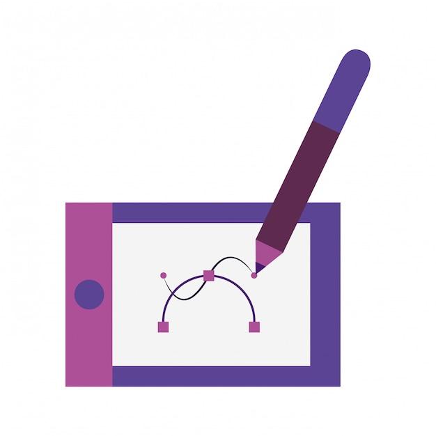 Технология рисования планшета Premium векторы