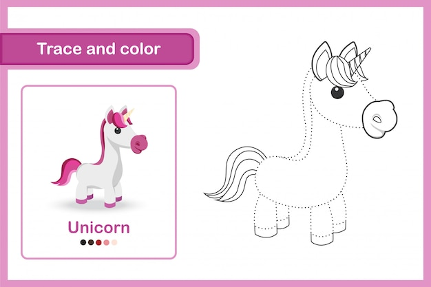 Drawing worksheet for preschool kids Premium Vector