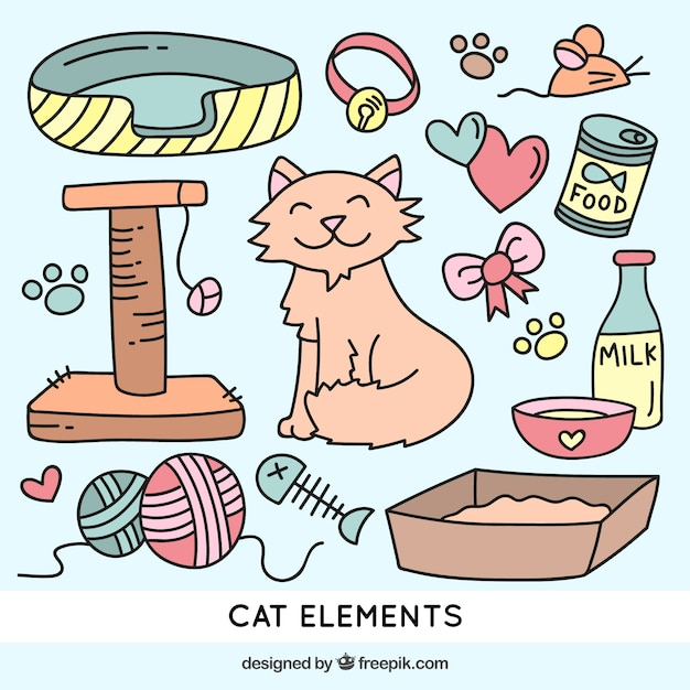 Drawings cat elements