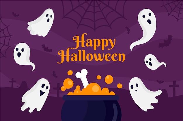 Нарисованный фон для хэллоуина Бесплатные векторы
