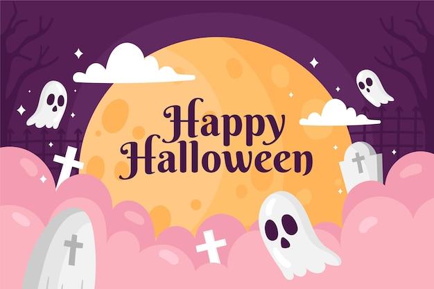 Нарисованные обои на хэллоуин Бесплатные векторы