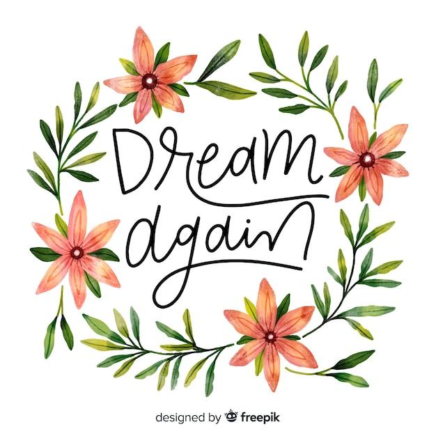 Dream again Free Vector