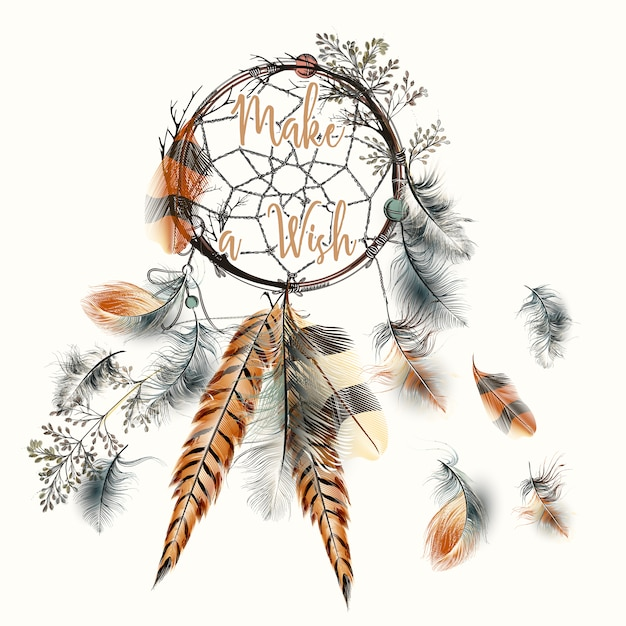 Pictures Of Dream Catchers: Dream Catcher Background Vector