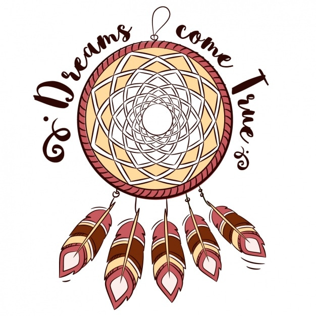 Dream Catcher Phrases Dream catcher with a phrase Vector Free Download 26