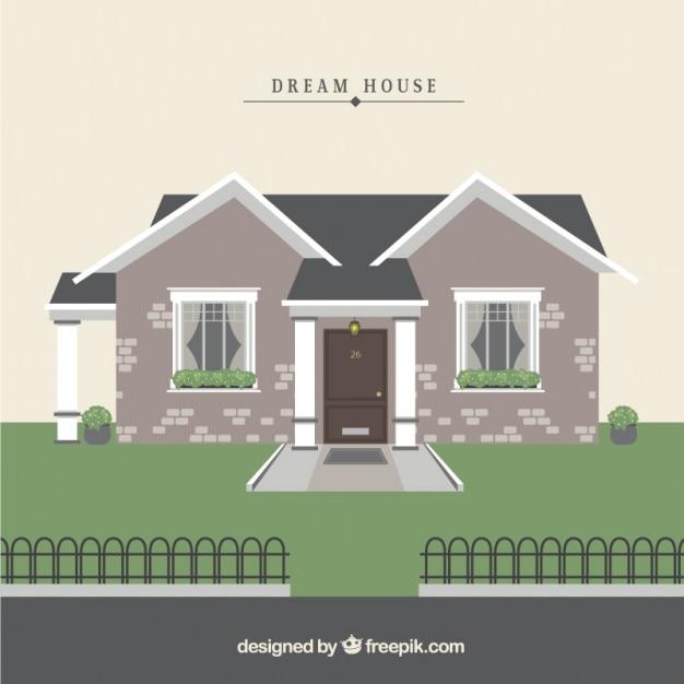 Dream House Premium Vector