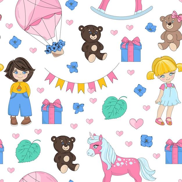 Dream party valentine's seamless Premiumベクター