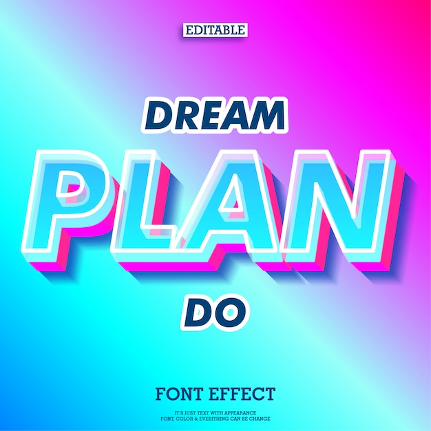 Dream quote with simple bright modern and futuristic text