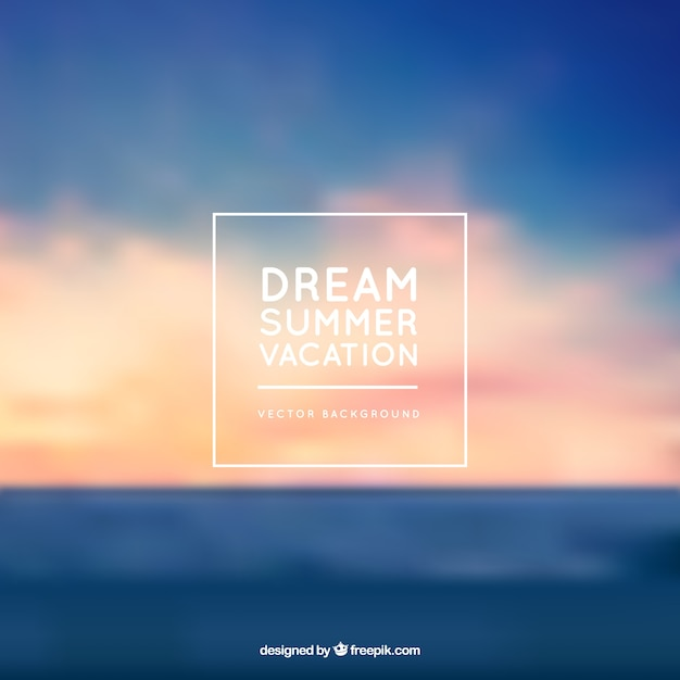 Dream summer vacation background Free Vector