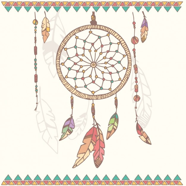 dreamcatcher background design vector free download
