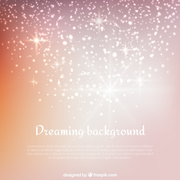 Dreaming background Free Vector