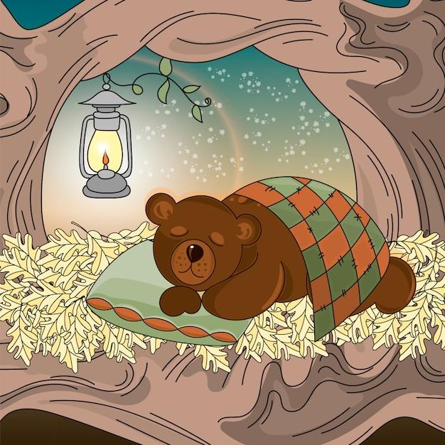 Картинки для детей спящего в берлоге медведя