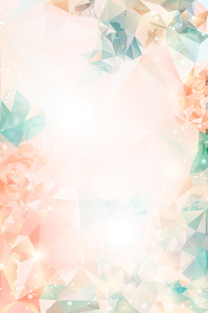 Dreamy floral background Free Vector