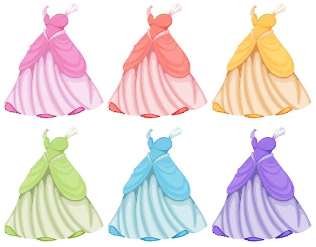 Dresses set Free Vector