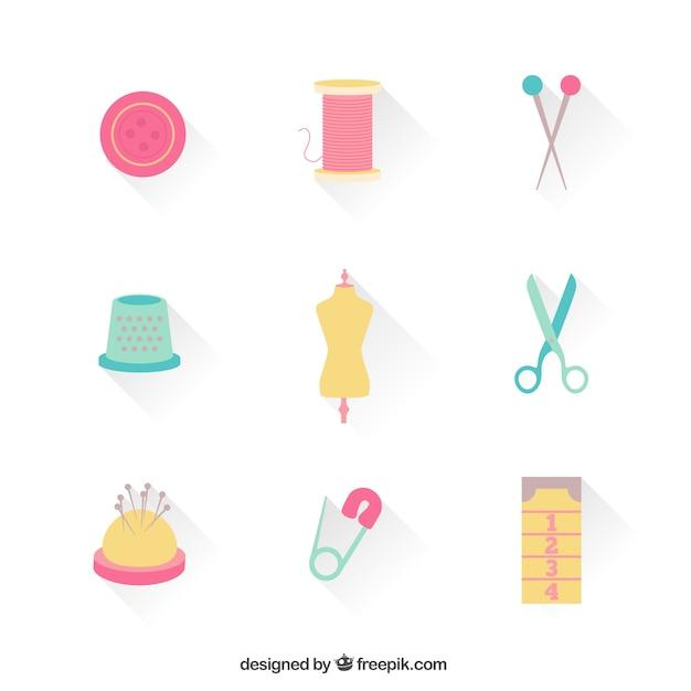 Dressmaker icons Free Vector