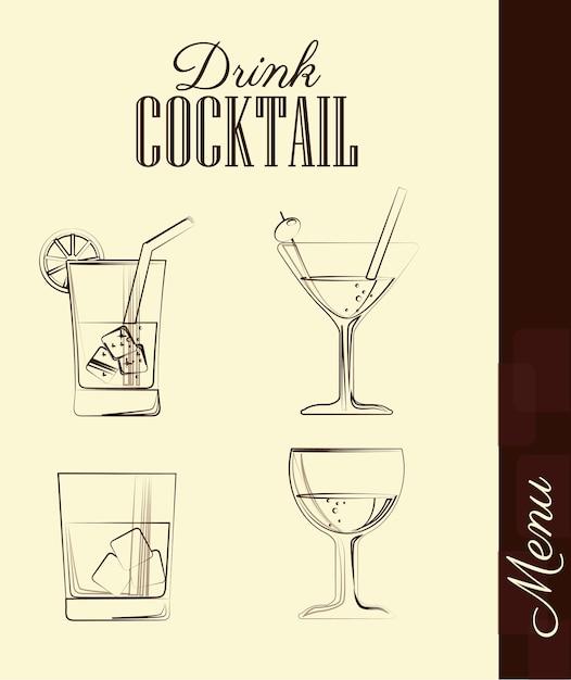 Drink design Premium Vector