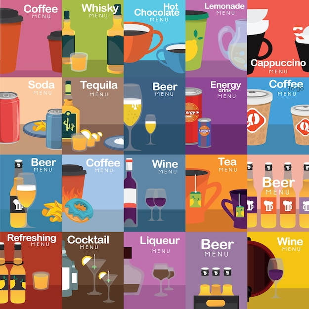Drink designs collection