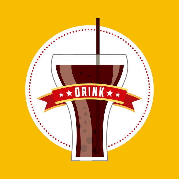 Drink glass Premium Vector
