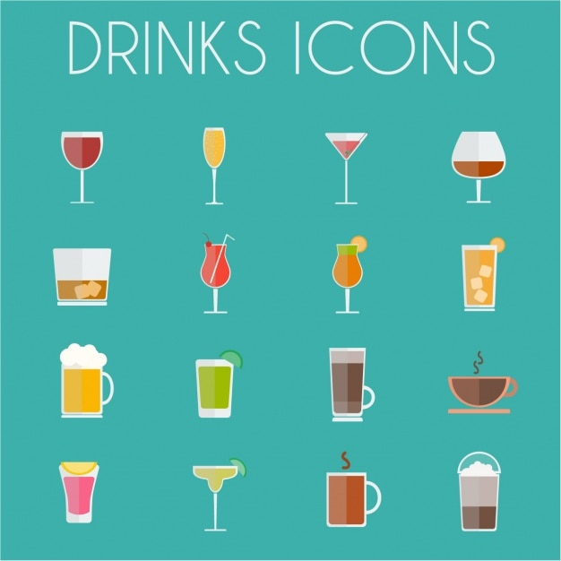 Drink icons collection