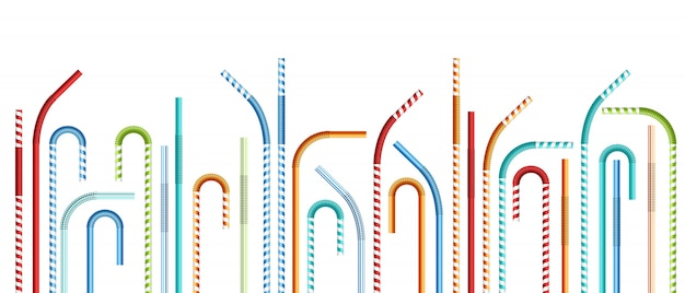 Drinking straws  illustration Premium Vector