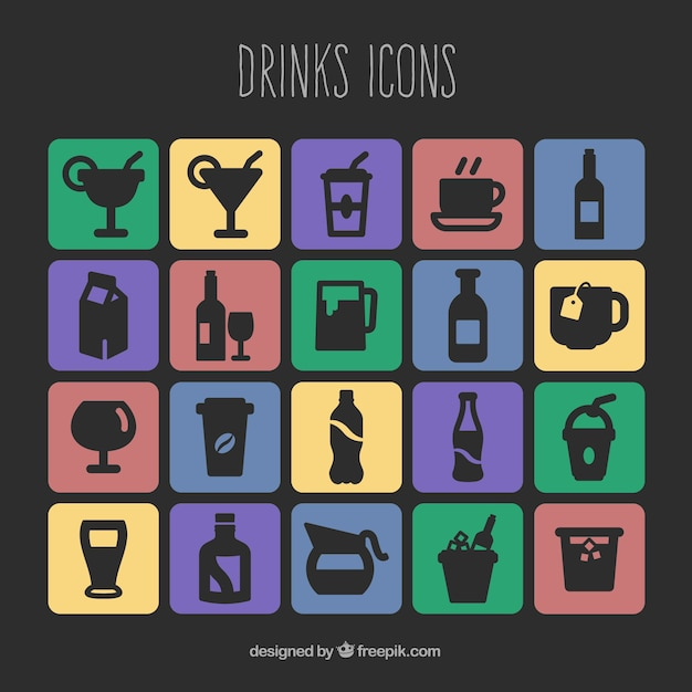 Drinks icons pack