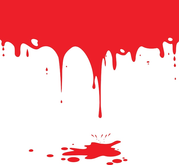 dripping blood isolated on white vector premium download