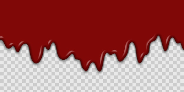Dripping blood or ketchup Premium Vector