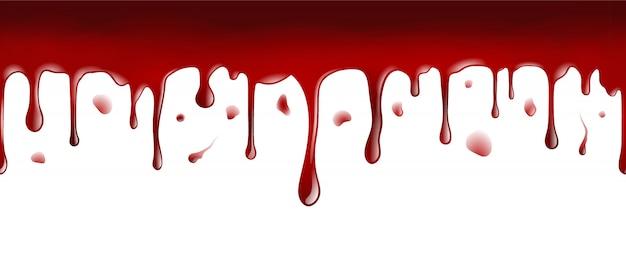 Капающая кровь бесшовное знамя Premium векторы