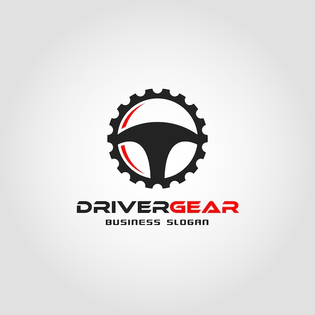 Driver gear logo template Premium Vector