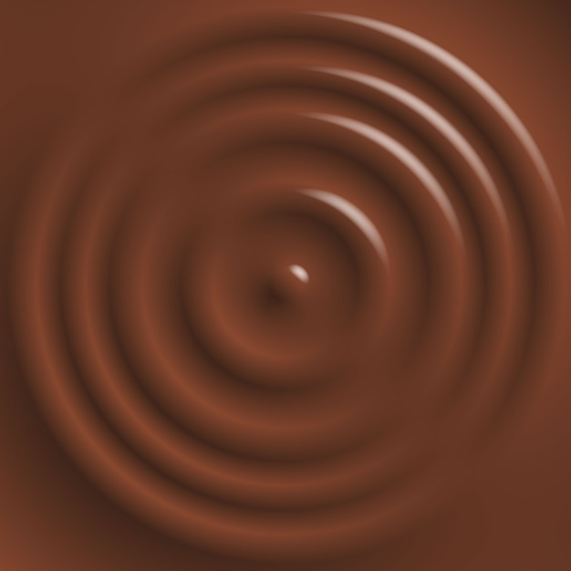 Drop falling on chocolate surface Premium Vector